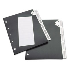 Tarifold 50401 Index Divider Set For Catalog Rack, 5-Tab Set, Black