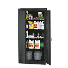 Tennsco - 72-inch high standard cabinet, 36w x 18d x 72h, black, sold as 1 ea