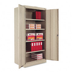 Tennsco - 72-inch high standard cabinet, 36w x 24d x 72h, putty, sold as 1 ea