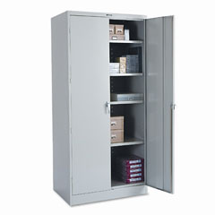 Tennsco - 78-inch high deluxe cabinet, 36w x 24d x 78h, light gray, sold as 1 ea