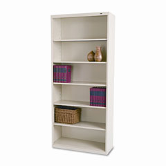 Tennsco - metal bookcase, 6 shelves, 34-1/2w x 13-1/2h x 78h, putty, sold as 1 ea