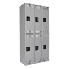 Tennsco DTS121836CMG Double Tier Locker, 36W X 18D X 72H, Medium Gray