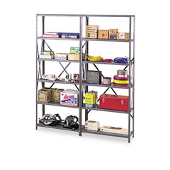 Tennsco IPB-87-1MGY Industrial Post Kit, For 36 & 48 Wide Shelves