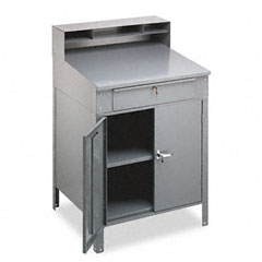 Tennsco SR-58MG Steel Cabinet Shop Desk, 36W X 30D X 53-3/4H, Medium Gray