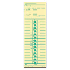 Tops - time card for acroprint and lathem, weekly, 3-1/2 x 10-1/2, 500/box, sold as 1 bx