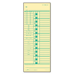 Tops - time card for acroprint and simplex, weekly, two-sided, 3-1/2 x 9, 500/box, sold as 1 bx
