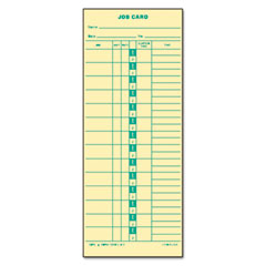 Tops - time card for cincinnati, lathem, simplex, job card, 1-sided, 3-1/2 x 9, 500/box, sold as 1 bx