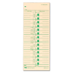 Tops - time card for acroprint, ibm, lathem and simplex, weekly, 3-1/2 x 9, 500/box, sold as 1 bx