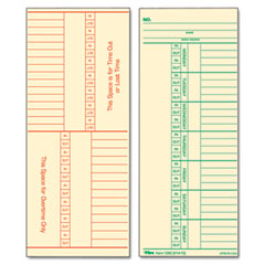 Tops - time card for cincinnati, named days, two-sided, 3-3/8 x 8-1/4, 500/box, sold as 1 bx