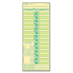 Tops - time card for lathem, bi-weekly, two-sided, 3-1/2 x 9, 500/box, sold as 1 bx