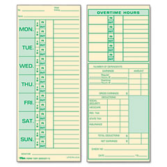 Tops - time card for pyramid model 331-10, weekly, two-sided, 3-1/2 x 8-1/2, 500/box, sold as 1 bx