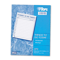 Tops - -inchthings to do today-inch daily agenda pad, 8-1/2 x 11, 100 forms, sold as 1 pd