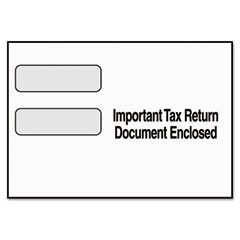 Tops - double window tax form envelope for 1099 misc/r forms, 9 x 5-5/8, 24/pack, sold as 1 pk