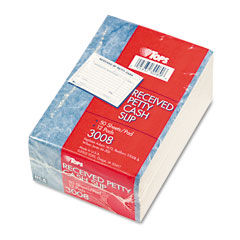 Tops - received of petty cash slips, 3-1/2 x 5, 50/pad, 12/pack, sold as 1 pk