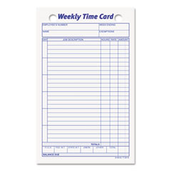 Tops - employee time card, weekly, 4-1/4 x 6-3/4, 100/pack, sold as 1 pk
