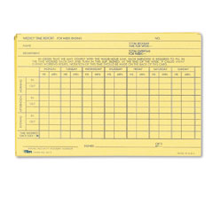Tops - employee time report card, weekly, 6 x 4, 100/pack, sold as 1 pk