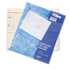 Tops 32801 Employee Record Master File Jacket, 9 1/2 X 11 3/4, 10 Point Manila, 15/Pack