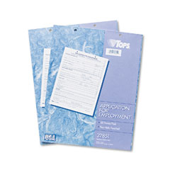Tops 32851 Employee Application Form, 8-1/2 X 11, 50/Pad, 2/Pack