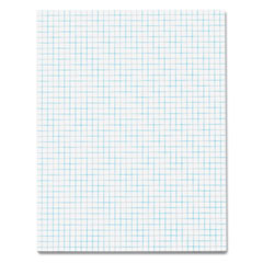 Tops 33041 Quadrille Pads, 4 Squares/Inc, 8-1/2 X 11, White, 50 Sheets/Pad