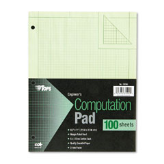 Tops 35500 Engineering Computation Pad, Quad Rule, Letter, Green, 100 Sheets/Pad