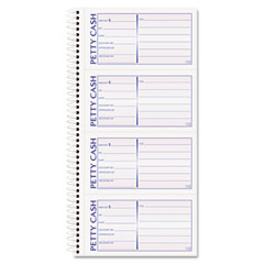 Tops - petty cash receipt book, 5-1/2 x 11, two-part carbonless, 200 sets/book, sold as 1 ea