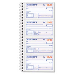 Tops - money/rent receipt spiral book, 2-3/4 x 5, two-part carbonless, 200 sets/book, sold as 1 ea