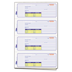 Tops - money and rent receipt books, 7-1/4 x 2-3/4, two-part carbonless, 200 sets/book, sold as 1 ea