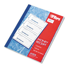 Tops - money/rent receipt books, 7-1/4 x 2-3/4, three-part carbonless, 100 sets/book, sold as 1 ea
