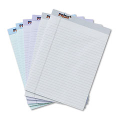 Tops 63116 Prism Plus Colored Pads, Legal Rule, Letter, Pastels, 6 50-Sheet Pads/Pack