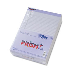 Tops 63140 Prism Plus Colored Pads, Legal Rule, Letter, Orchid, 50-Sheet Pads, 12/Pack