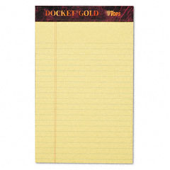 Tops - docket gold legal ruled perforated pad, 5 x 8, canary, 12 50-sheet pads/pack, sold as 1 pk