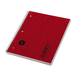 Tops - jammit pocket wirebound notebook, ruled, 9 x 11, white, 100 sheets/pad, sold as 1 ea