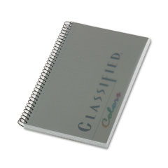 Tops - notebook w/graphite cover, narrow rule, 5-1/2 x 8-1/2, white, 100 sheets/pad, sold as 1 ea