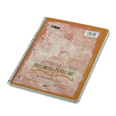 Tops - second nature subject wirebound notebook, quadrille rule, ltr, we, 80-sheet, sold as 1 ea