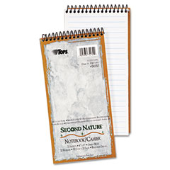 Tops - second nature spiral reporter/steno notebook, gregg rule, 4 x 8, white, 70-sheet, sold as 1 ea