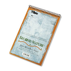 Tops - second nature spiral reporter/steno notebook, gregg rule, 6 x 9, we, 70-sheet, sold as 1 ea