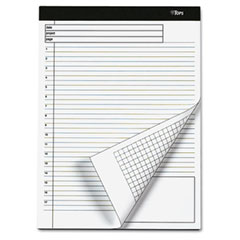 Tops 77100 Docket Gold Planning Pad, Ruled, 8-1/2 X 11-3/4, We, 4 40-Sheet Pads/Pack