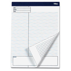Tops 77102 Docket Gold Planning Pad, Wide Rule, 8-1/2 X 11-3/4, White, 4 40-Sheet Pads/Pack