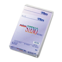 Tops - spiral steno notebook, gregg rule, 6 x 9, orchid, 4 80-sheet pads/pack, sold as 1 pk