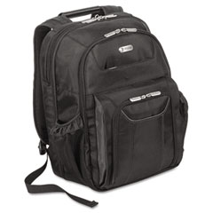 "Targus TBB012US Zip-Thru Air Traveler Backpack, Fits 15.8"" Widescreen Laptop, Polyester, Black"