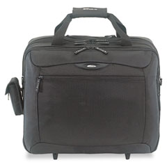 Targus - rolling travel laptop case, nylon, 18 x 10 x 15, black, sold as 1 ea