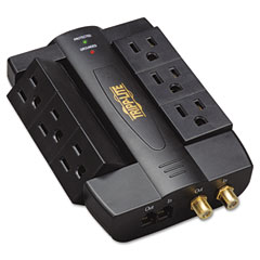 Tripp Lite HTSWIVEL6 Htswivel6 Direct Plug-In Surge Rj11, Coax, 6 Rotatable Outlets, 1500 Joules