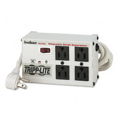 Tripp Lite ISOBAR4ULTRA Isobar4Ultra Isobar Surge Suppressor, Metal, 4 Outlet, 6Ft Cord, 3330 Joules