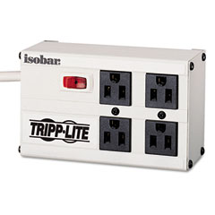 Tripp Lite ISOBAR4 Isobar4 Isobar Surge Suppressor, Metal, 4 Outlet, 6Ft Cord, 3330 Joules