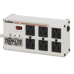 Tripp lite - isobar6ultra isobar surge suppressor metal, 6 outlet, 6ft cord, 3330 joules, sold as 1 ea