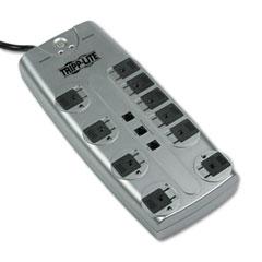Tripp lite - tlp1008tel surge suppressor, 10 outlet, rj11, 8ft cord, 2395 joules, sold as 1 ea