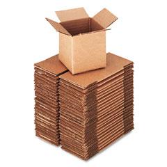 Universal 684184 Corrugated Kraft Fixed-Depth Shipping Carton, 4W X 4L X 4H, Brown, 25/Bundle