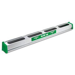 "Unger HU900 Hold Up Aluminum Tool Rack, 36"", Green/Silver, Each"