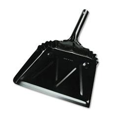 "Unisan 03000 Metal Dustpan, 12"" Width, Black"
