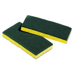 Unisan 03006 Medium-Duty Scrubbing Sponges, 3-3/8 X 6-1/4, 5 Sponges/Pack